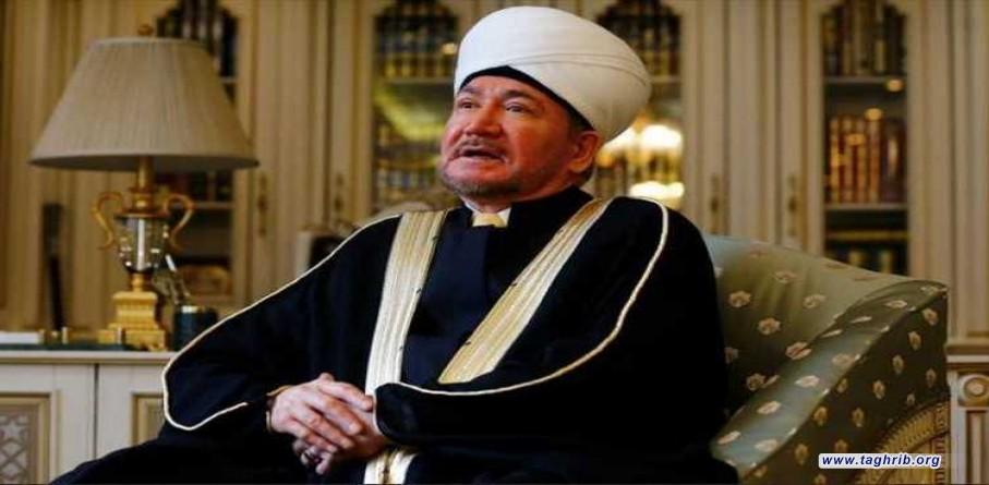 رئيس المجمع الروحي لمسلمي روسيا مفتي روسيا يعتبر قرار ماكرون بعدم حظر نشر الرسوم المسيئة بأنه استفزاز للمسلمين