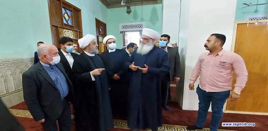 بازدید دبیرکل مجمع تقریب از مسجد ام الطبول در شهر بغداد